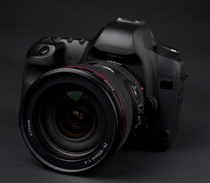low key professional digital SLR camera