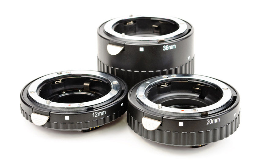 Rings for macro photography