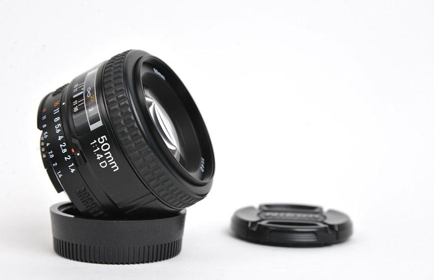 DSLR Camera Lens Isolated on White