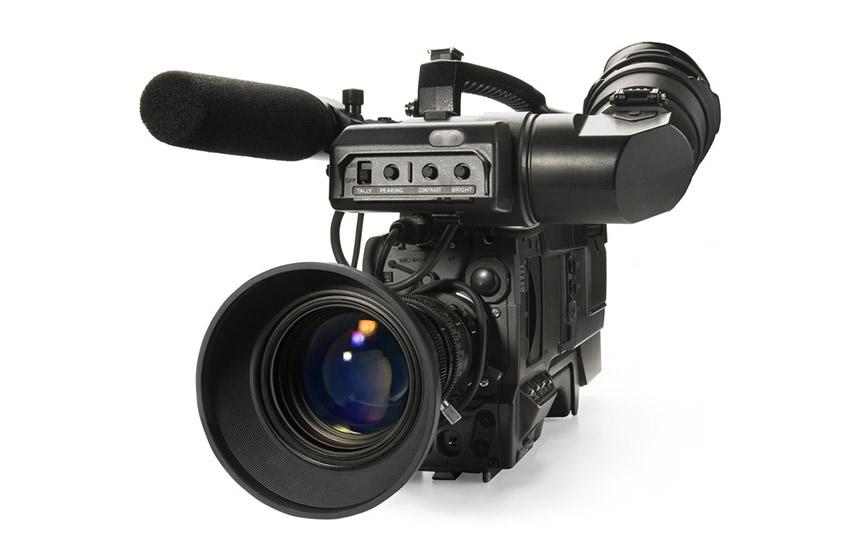Professional digital video camera, isolat